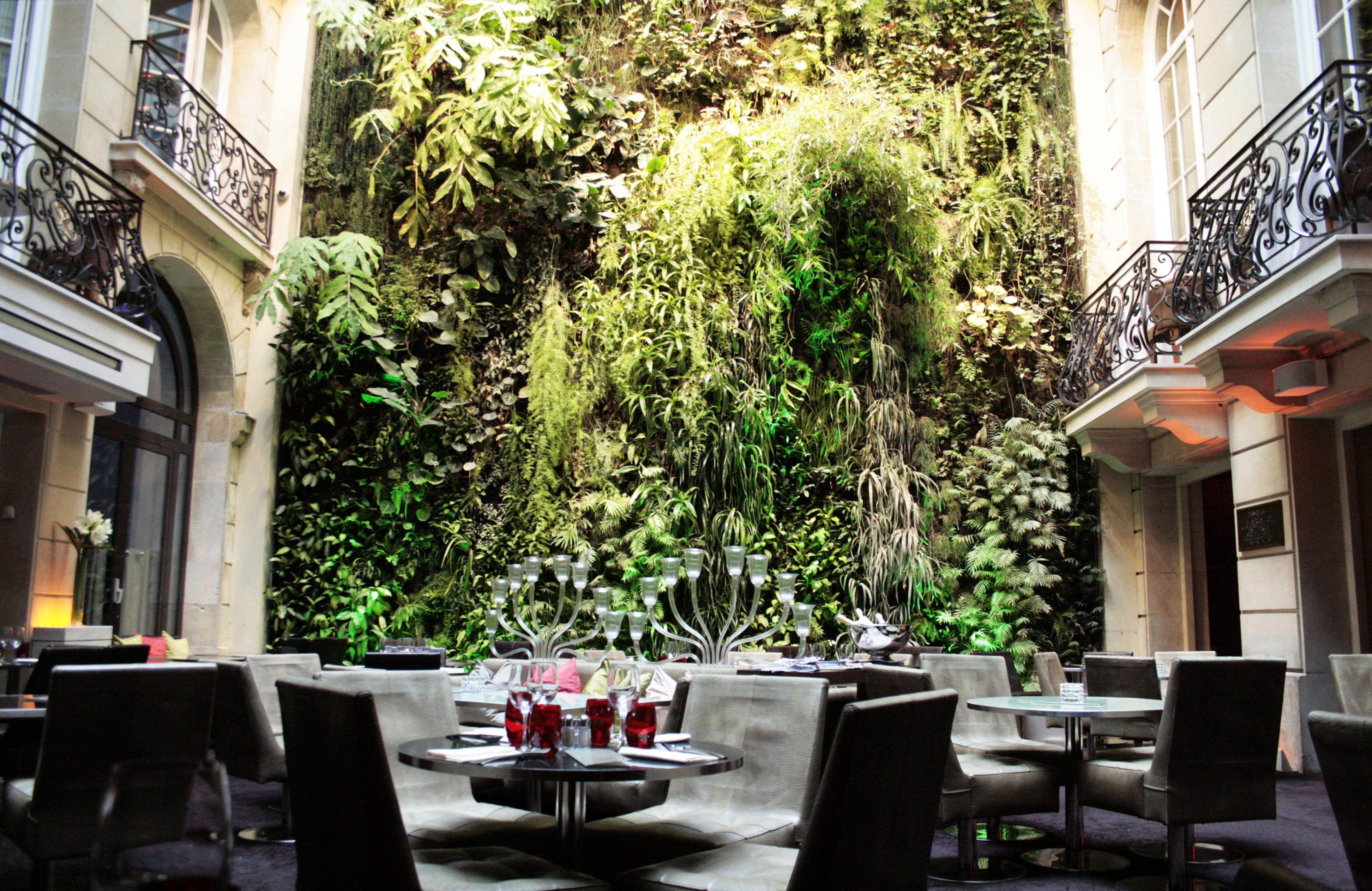 Restaurant Avec Mur Vegetal Paris